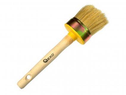Štetec kulatý, 60 mm, dřevěná rukojeť, GEKO