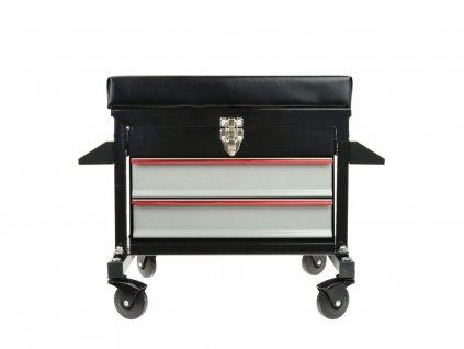 Dílenská stolička s 2 zásuvkami GEKO nářadí G10822