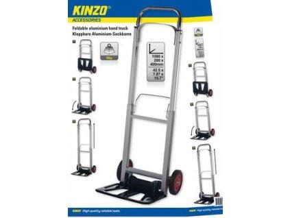 Přepravní skládací hliníkový rudl Kinzo, nosnost 90 kg