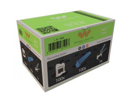 System Leveling - aplikační SET 100/100/1 - 1mm, karton