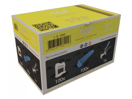 Aplikační SET 100/100/1 - 3mm, karton System Leveling D.O.O. SL1523
