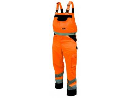 Reflexní kalhoty s laclem vel. S,oranžové