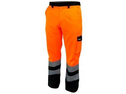 Reflexní kalhoty vel. S, oranžové