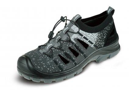 Bezpečnostní sandály D3V,textil,vel.45, kat.S1 SRC,kompoz.