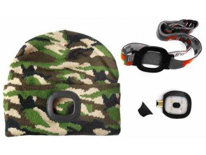 Čepice s LED světlem - maskovací MAGG 120265