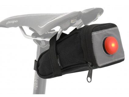 Cyklotaška pod sedlo se zadním LED světlem Compass Bike 12021