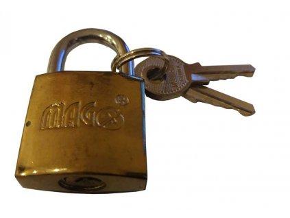 Visací zámek 20mm - zlatý MAGG 110133
