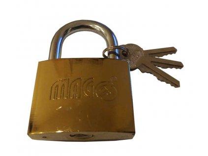 Visací zámek 63mm - zlatý MAGG 110138