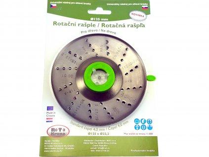 Rotační rašple 125x22,2mm - 4,0mm - čepel ROTO Kruna ROTO12540