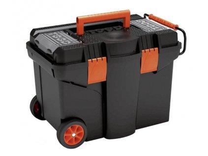 Plastový pojízdný kufr, tažná rukojeť 580x380x410mm, plastové…