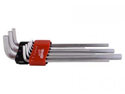 Profi sada 9ks inbus klíčů, prodloužených (1,5-10,0mm) MAGG PROFI 341900