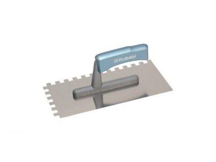 Hladítko nerezové 130x270mm zub 10x10mm, rukojeť dřevěná KUBALA 0418