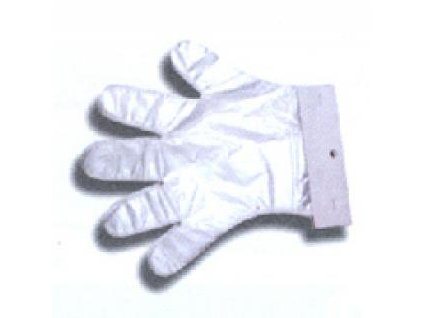 Jednorázové rukavice mikrotenové velikost L - 100ks QUICKPACK Q094