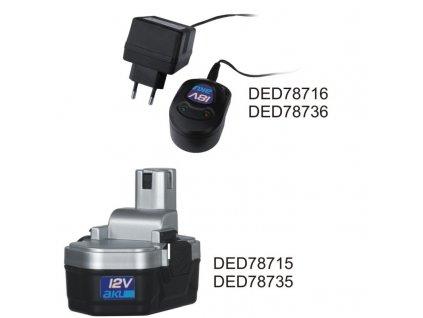 Nabíječka akumulátorů 18 V pro DED7873B