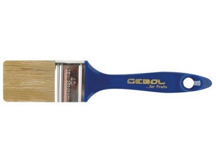 Štětec plochý UNION 40mm, bílá štětina, plastová rukojeť GEBOL 403240