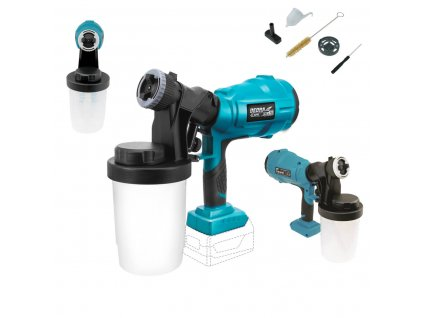 pol pl Akumulatorowy agregat do malowania natryskowego DED7057 DEDRA SAS ALL 0 7l min lepkosc 60 DIN S dysze 2 0 2 5mm 900ml 24472 3
