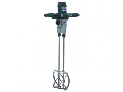 Elektrické dvojité míchadlo stavebních směsí a barev 1350 W 2 rychlostní DEDRA DED7929  + zdarma pár metlic do míchadla