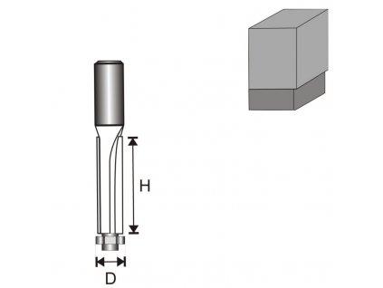 Fréza na dřevo prostá s ložiskem, dlouhá T8 D13 H50 mm DEDRA 07F091B  + oblíbená pro svou délku břitu 50 mm