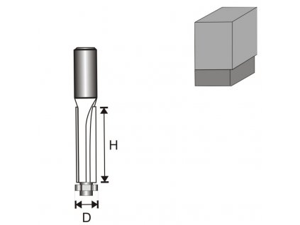 Fréza na dřevo prostá s ložiskem, dlouhá T8 D13 H50 mm  + oblíbená pro svou délku břitu 50 mm