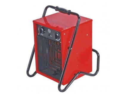 Elektrické topidlo 5 kW 400 V DEDRA DED9922  + vestavěný ventilátor a prodlužovací kabel 400V