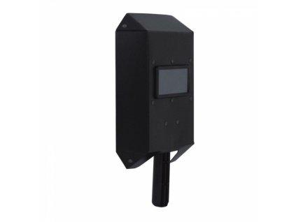 Svářecí štít 200x270x50 mm, zorné pole50x100 mm, rukojeť dřevěná DEDRA DES010