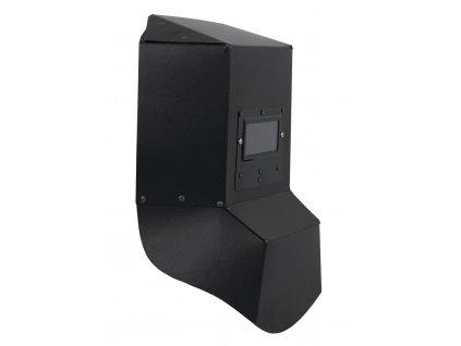 Svářecí štít 235x385x85 mm, zorné pole 50x100 mm, rukojeť dřevěná DEDRA DES011