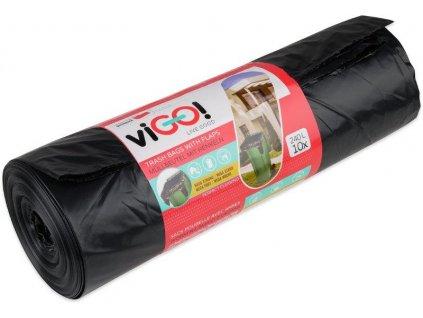 viGO! Pytle odpadkové s uchy LD 240l/10 ks 116x150cm - černé QUICKPACK 7723440