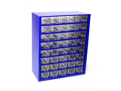 Skříňka na drobné součástky do dílny, 40 M - modrá MARS Svratka 6710M