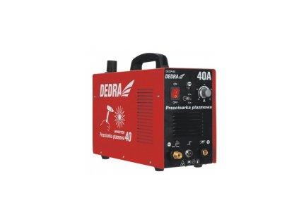 Plazmová řezačka 20-40 A pro řezání materiálu do max. 12 mm DEDRA DESPI40  + praktický plastový kufr pro snadnější přenášení