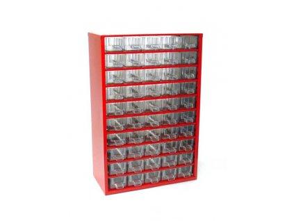 Skříňka na drobné součástky do dílny, 50 M - červená MARS Svratka 6732C