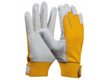 Pracovní rukavice kozinková useň UNI FIT COMFORT velikost 8