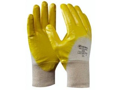 Pracovní nitrilové rukavice YELLOW NITRIL velikost 9