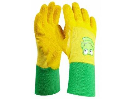 Dětské pracovní rukavice FROGGY velikost 4 GEBOL 709700
