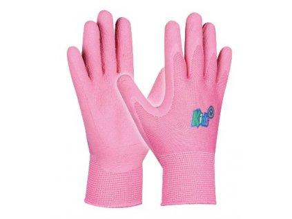 Dětské pracovní rukavice KIDS PINK velikost 5