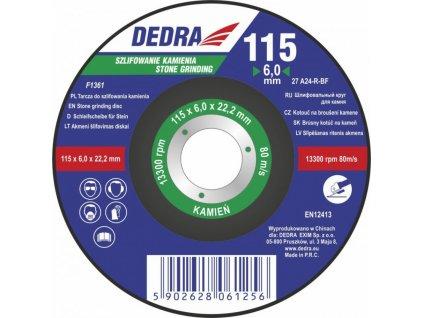 115x6,0x22,2 kotouč na broušení kamene DEDRA F1361