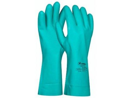 Pracovní gumové rukavice Green Tech velikost L GEBOL 709926