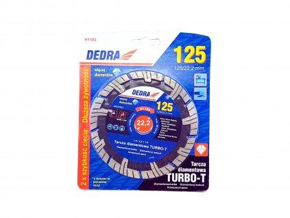 Diamantový řezný kotouč Turbo-T 125x22,2 mm DEDRA H1193