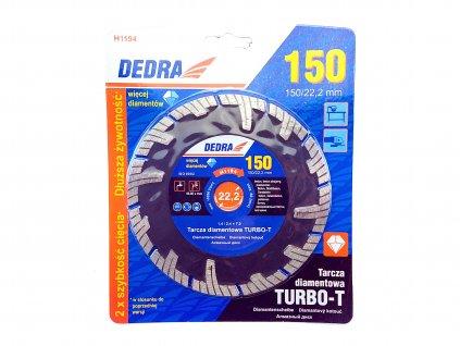 Diamantový řezný kotouč Turbo-T 150x22,2 mm DEDRA H1194