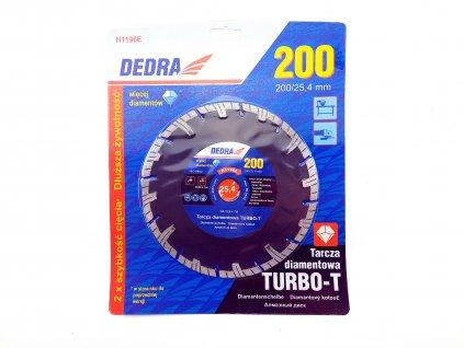Diamantový řezný kotouč Turbo-T 200x25,4 mm DEDRA H1196E