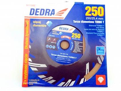 Diamantový řezný kotouč Turbo-T 250x25,4 mm DEDRA H1198E