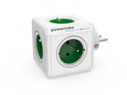 Rozbočka do zásuvky POWERCUBE ORIGINAL - bílá / zelená