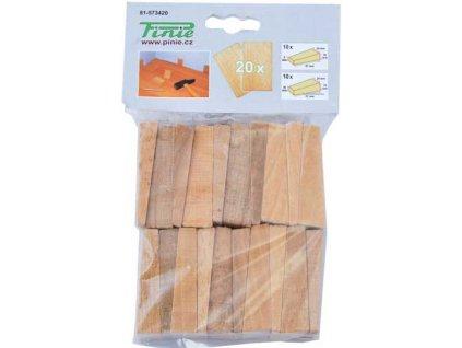 Dřevěné klínky pro montáže 20ks