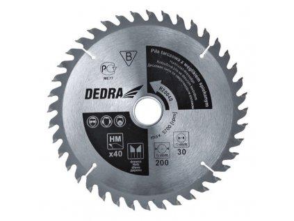 Kotoučová pila na dřevo 24z průměr 125x12,75 mm DEDRA H12524D