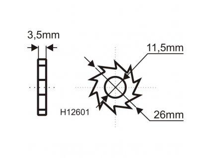 Náhradní ostří HM 16 ks pro frézu #H1260 DEDRA H12601
