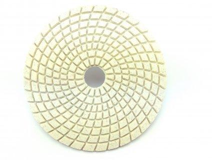 Diamantový leštící kotouč na žulu, mramor a sklo, hr.0400 průměr 125 mm