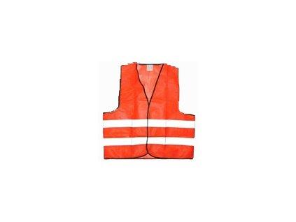 Reflexní vesta - oranžová. Velikost XL