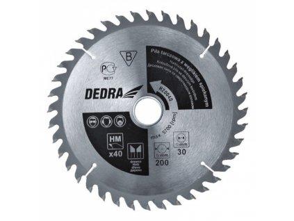 Kotoučová pila na dřevo 60z průměr 185x20 mm DEDRA H18560