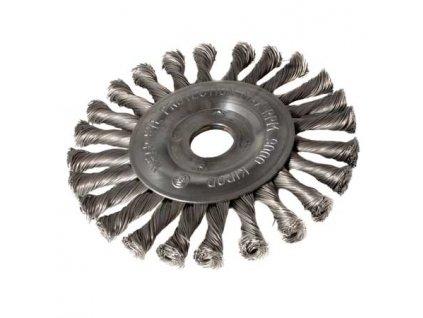 Ocelový okružní kartáč 150mm, copánkový S 0,50, otvor 22,2mm MAGG BL97026