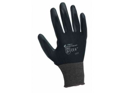 Rukavice nylonové PU dlaň Bunting black - velikost 7