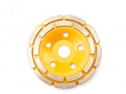 Diamantový brusný kotouč dvojitý Segment POP 125x22,2 mm DEDRA HP041  + ideální volba na broušení betonu, lepidel, nivelace apod.
